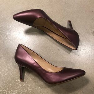 ** - Naturalizer Natalie pump in plum leather s…
